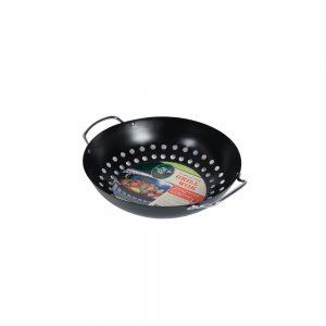 big green egg round grill wok